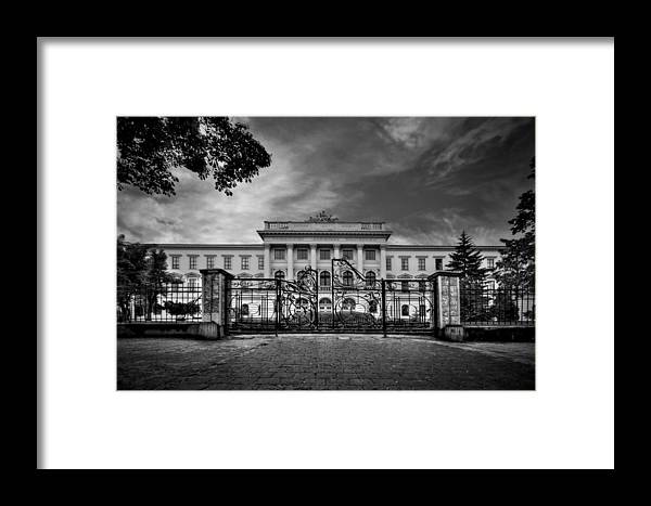 Gate Framed Print featuring the photograph The Grand Entrance by Evelina Kremsdorf