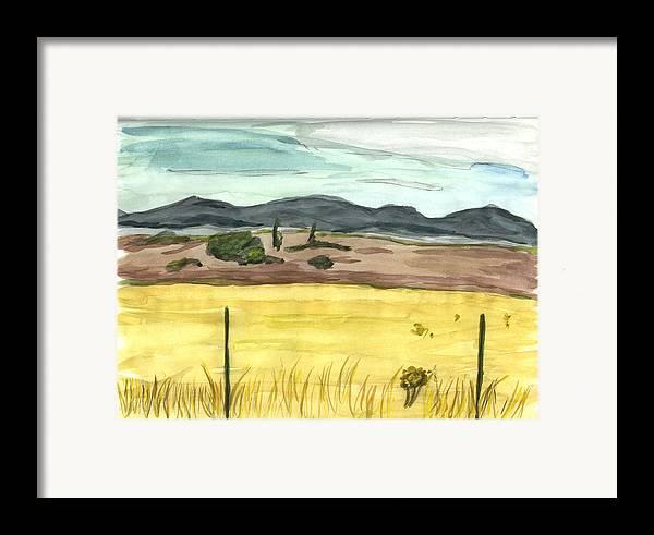 Kevin Callahan Framed Print featuring the painting The Great Basin Utah by Kevin Callahan