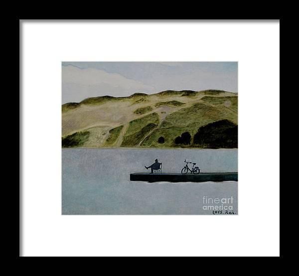 Nida Framed Print featuring the painting The Great Nida's Dune by Raimonda Jatkeviciute-Kasparaviciene