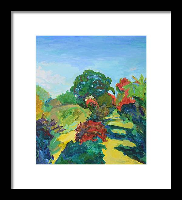 Landscape Framed Print featuring the painting The Great Oak by Aletha Kuschan