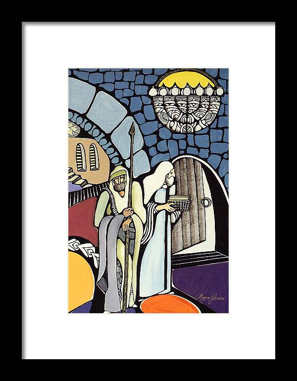 Framed Print featuring the painting The Great Synagogue Of Jerusalem by Maya Green