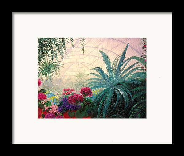 Greenhouse Framed Print featuring the digital art The Green House by Jeanene Stein