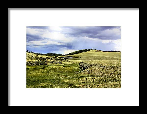 Photography Framed Print featuring the photograph The Green White Mountains 1825 by Sharon Broucek