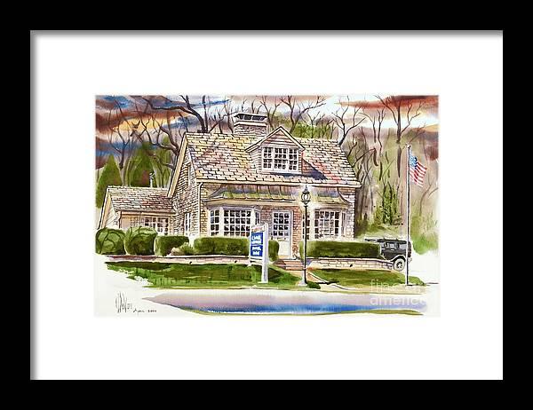 The Greystone Inn In Brigadoon Framed Print featuring the painting The Greystone Inn In Brigadoon by Kip DeVore