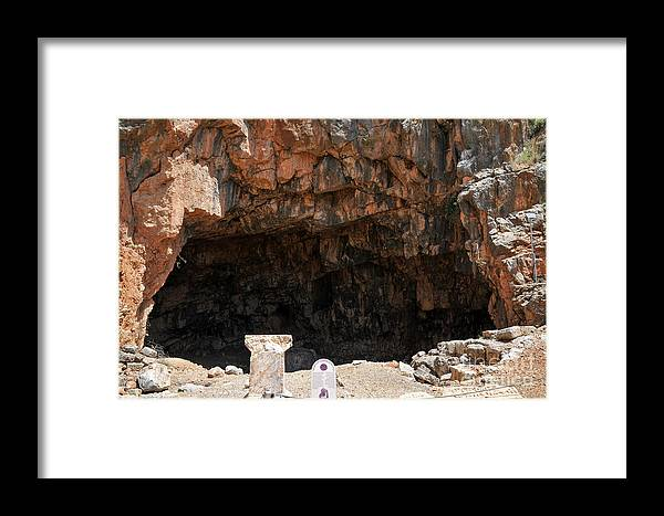 Grotto Framed Print featuring the photograph The Grotto Of The God Pan by Shay Levy