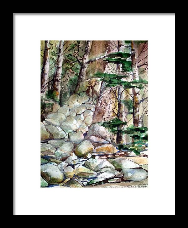 Deer Framed Print featuring the painting The Guardians by Mindy Newman