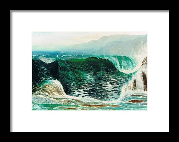 Sea Framed Print featuring the painting The Gulf by Brett McGrath