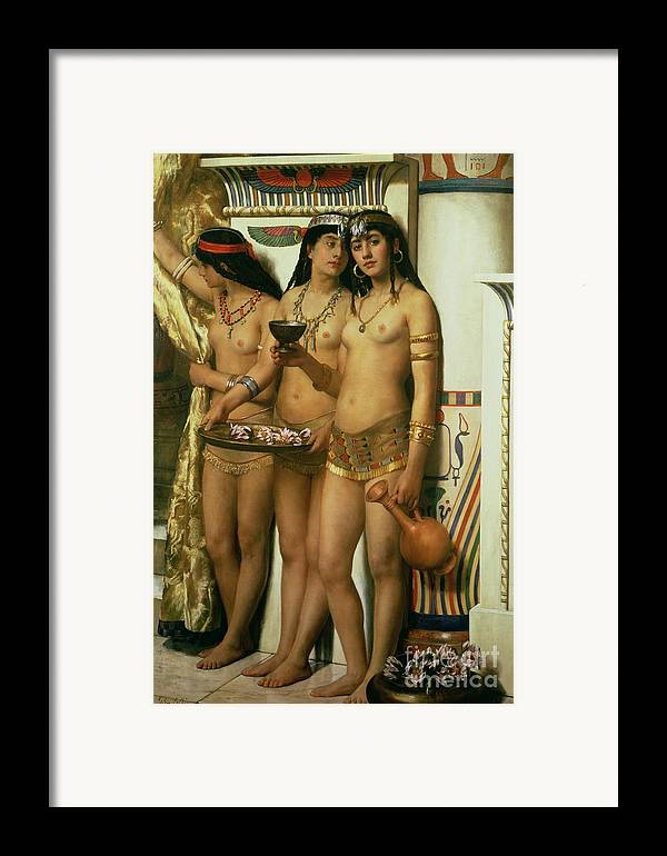 Royalty Framed Print featuring the painting The Handmaidens Of Pharaoh by John Collier