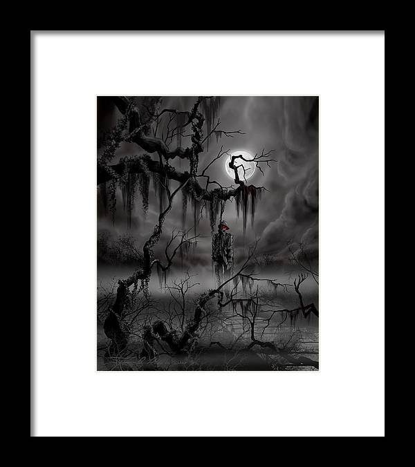 Nightmare Framed Print featuring the painting The Hangman by James Christopher Hill