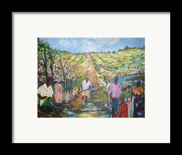 Folk Framed Print featuring the painting The Harvest by Impressionist FineArtist Tucker Demps Collection