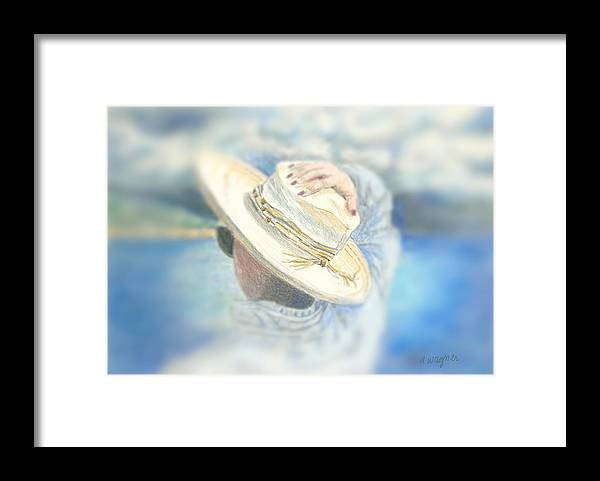 Hat Framed Print featuring the mixed media The Hat by Arline Wagner