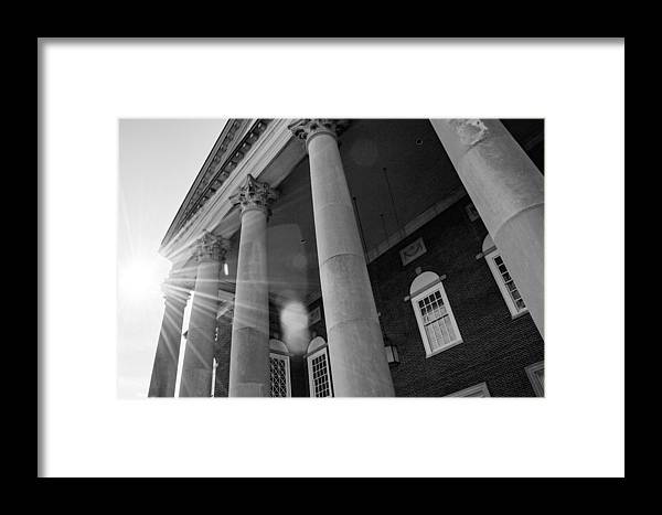 Auditorium Framed Print featuring the photograph The Haunted Auditorium by Angela Sherrer