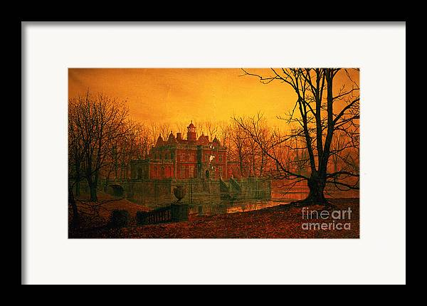 Bal9665 Framed Print featuring the painting The Haunted House by John Atkinson Grimshaw