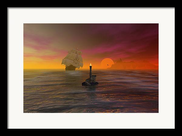 Bryce Framed Print featuring the digital art The Hazard Marker by Claude McCoy