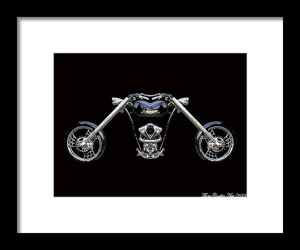 Harley Davidson Framed Print featuring the painting The Heart Of The Harley by Wayne Bonney