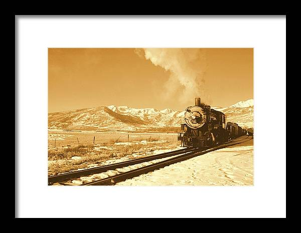 Train Framed Print featuring the photograph The Heber Creeper by Caroline Clark
