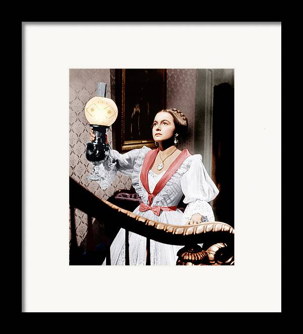 1940s Movies Framed Print featuring the photograph The Heiress, Olivia De Havilland, 1949 by Everett