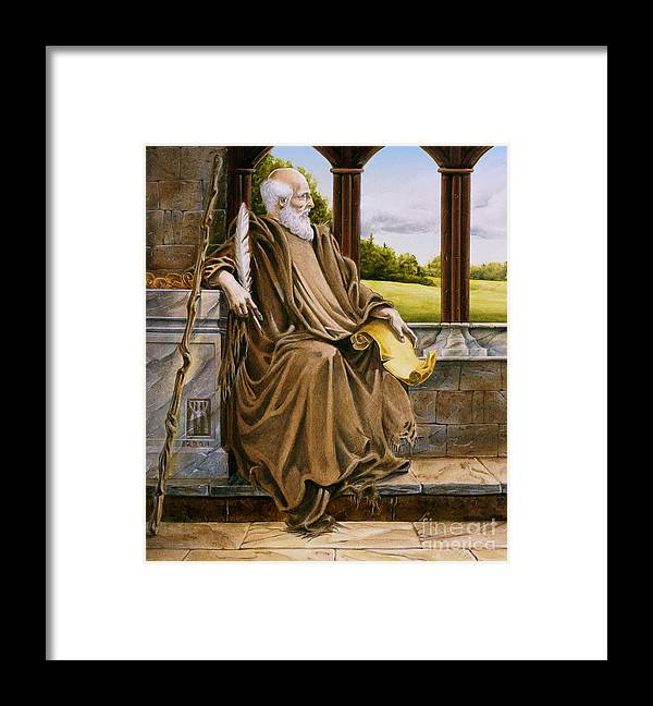 Wise Man Framed Print featuring the painting The Hermit Nascien by Melissa A Benson