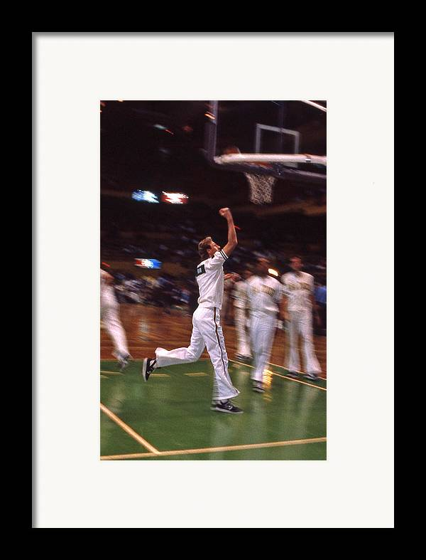Larry Bird Framed Print featuring the photograph The Hick From French Lick by Mike Martin