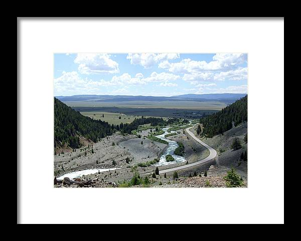 Landscape Framed Print featuring the photograph The Highway And The River by Joel Wolverton