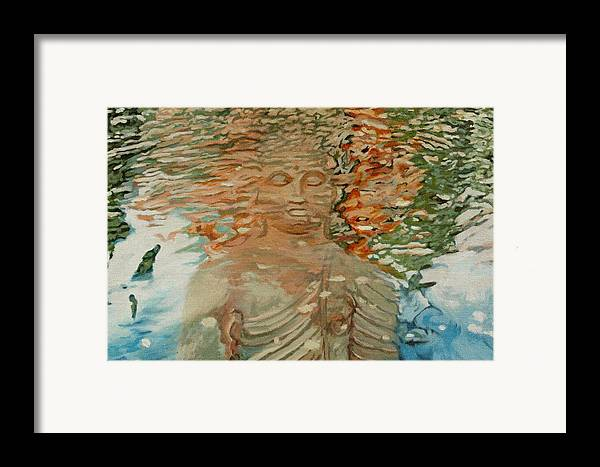 Buddhism Framed Print featuring the painting The Hindrance Of Sensual Desires by Allan OMarra