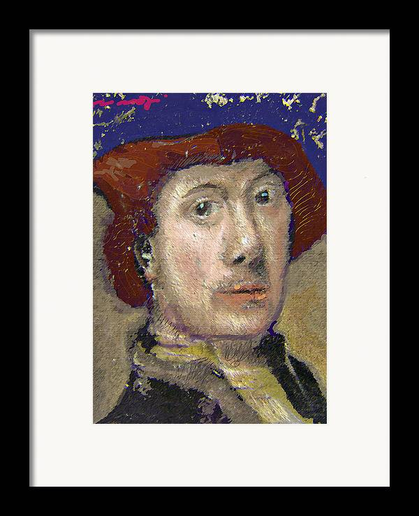 Portrait Framed Print featuring the painting The Historian by Noredin Morgan