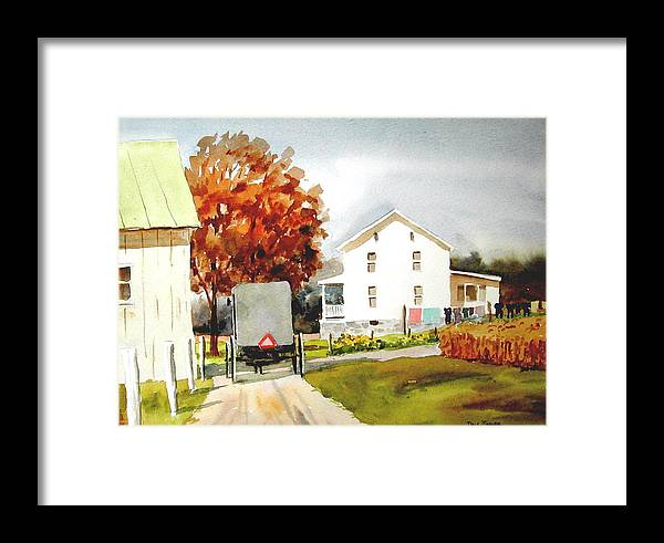 Amish Framed Print featuring the painting The Homestead by Faye Ziegler