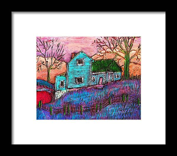 Farm Framed Print featuring the painting The Homestead I by Wayne Potrafka