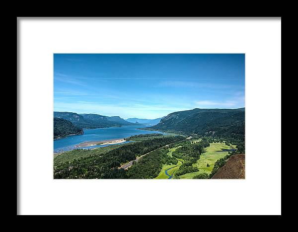 Hood River Framed Print featuring the photograph The Hood River by Joan Baker