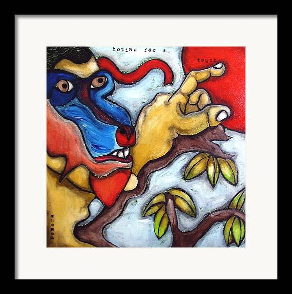 Contemporary Framed Print featuring the painting The Hope by Maarten Perera