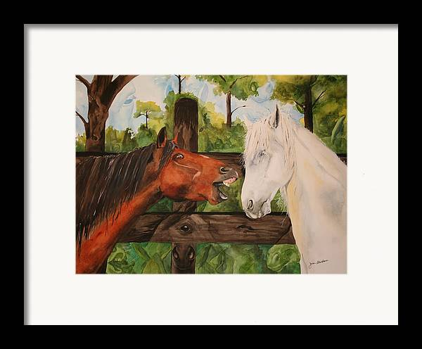 Horse Framed Print featuring the painting The Horse Whisperers by Jean Blackmer
