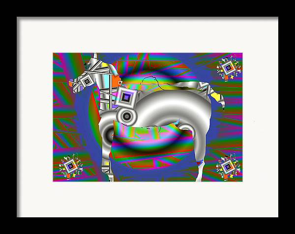 Digital Art Framed Print featuring the print The Horse by Yucel Donmez