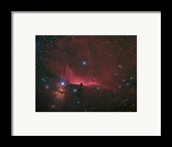 Astrophotography Framed Print featuring the photograph The Horsehead Nebula by Charles Warren