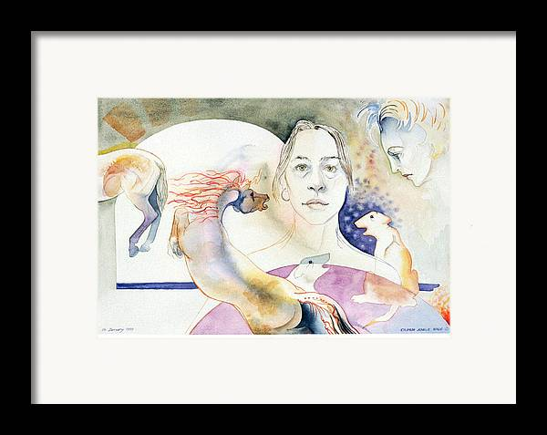 Surreal Framed Print featuring the painting The Horses Ass Painting by Eileen Hale