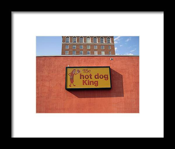 Hot Dog King Framed Print featuring the photograph The Hot Dog King by Flavia Westerwelle