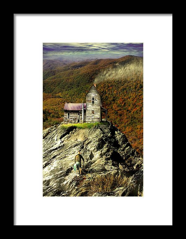 Blue Ridge Parkway Framed Print featuring the photograph The House Time Forgot Color by Gray Artus