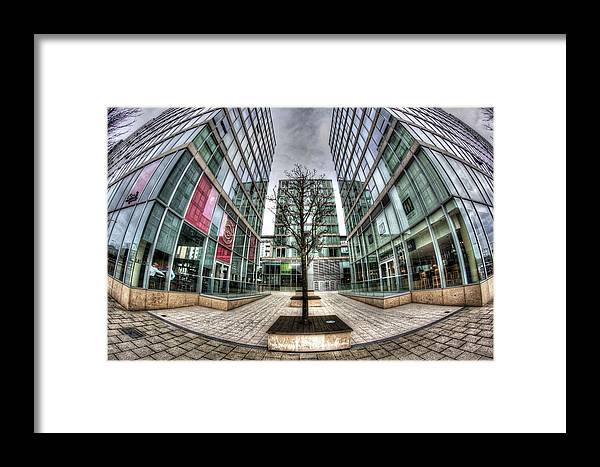Framed Print featuring the photograph The Hub Milton Keynes by konTrast