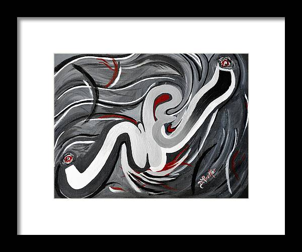 Gray Framed Print featuring the painting The i That Is WE - Soul Of Diversity by Donna Proctor
