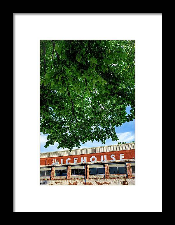 America Framed Print featuring the photograph The Icehouse - Bentonville Market District by Gregory Ballos