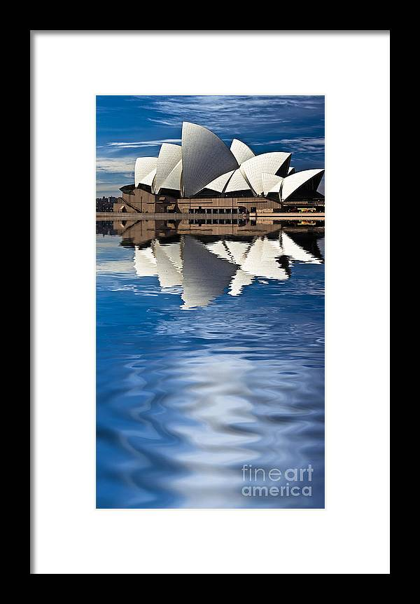 Sydney Opera House Sydney Harbour Framed Print featuring the photograph The Iconic Sydney Opera House by Sheila Smart Fine Art Photography