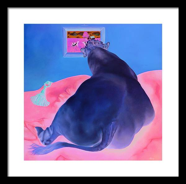 Animal Framed Print featuring the painting The Ideal by Helene Fleury