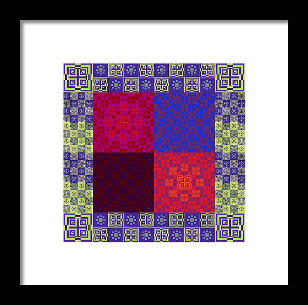 The Illusion And Delusion Framed Print featuring the digital art The Illusion And Delusion by Geoff Simmonds