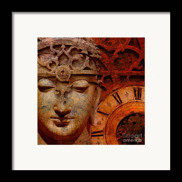 Time Framed Print featuring the digital art The Illusion Of Time by Christopher Beikmann