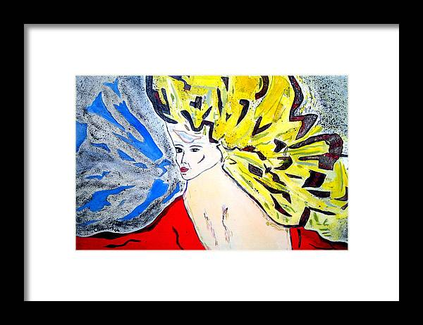Lady Framed Print featuring the painting The Incredible Hulkstress by Lessandra Grimley