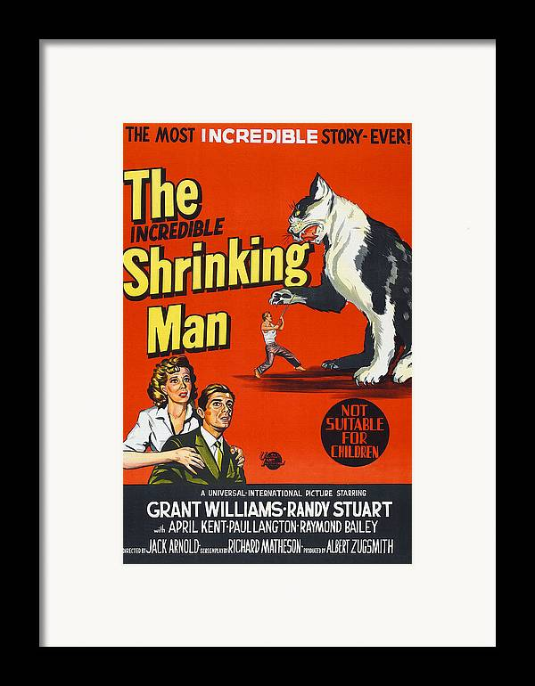 1950s Poster Art Framed Print featuring the photograph The Incredible Shrinking Man, Bottom by Everett