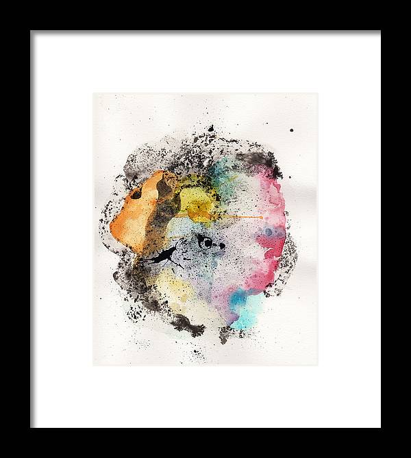 Ink Framed Print featuring the painting The Inexplicable Ignition Of Time Expanding Into Free Space Phase Two Number 18 by Mark M Mellon