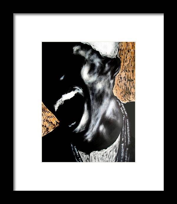 Framed Print featuring the mixed media The Initiate by Chester Elmore
