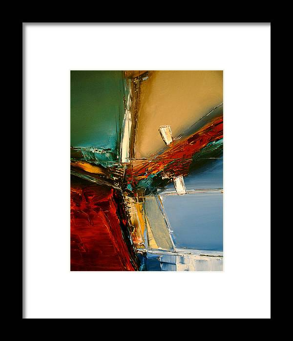 Abstract Framed Print featuring the painting The Innocence Slips Away by Stefan Fiedorowicz