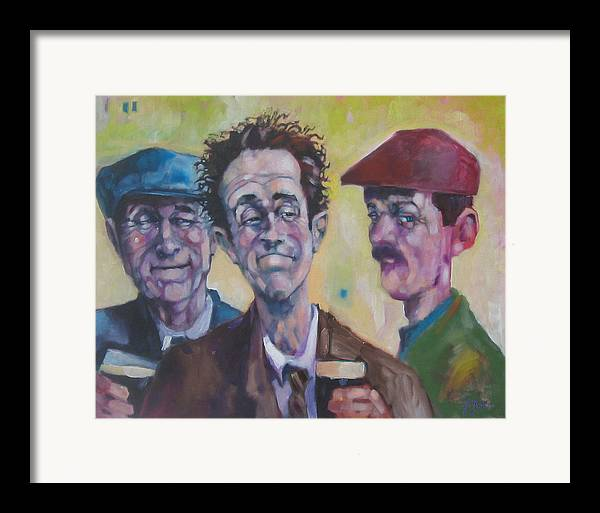 Figure Framed Print featuring the painting The Inside Joke by Kevin McKrell