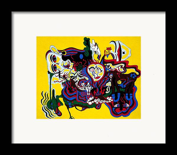 Abstract Framed Print featuring the print The Introvert by William Watson